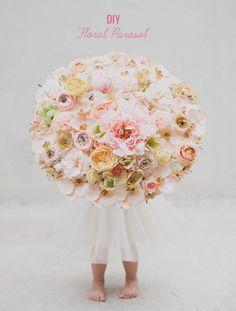 DIY Wedding : DIY Floral Parasol