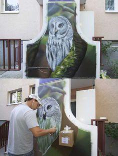 Airbrush Wandgestaltung und Airbrush Wandbemalungen - Fassaden Grafitti Wanddekorationen im Wohnzimmer, Kinderzimmer Wandmalerei, berlin und...