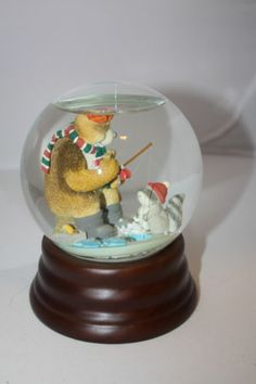 1000 images about snow globes on pinterest snow globes for Snow bear ice fishing