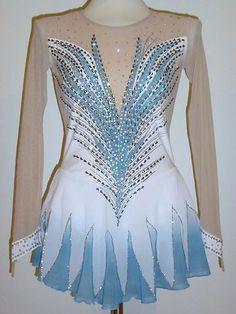 Beautiful Figure Ice Skating Dress Size Ladies x Small | eBay