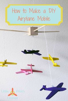 Trying to put together the perfect airplane nursery?This DIY airplane mobile is easy to make and will look absolutely adorable in your aviation nursery.