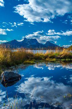 Efjord Mirror Narvik Norway   Autumn colors by arcticphoto