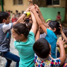 Kids really are the same no matter what country or culture you visit. And playing with water balloons is fun no matter if you're in Nepal, France, or a Syrian refugee camp in the Near East. An OM short-term team had a lot of fun with these refugee kids, all while displaying the love of the Father.  #Syrian #middleeast #refugee #ominternational #omintheworld #kids #travel #missions