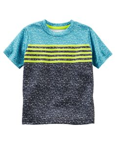 Toddler Boy Colorblock Striped Active Tee from OshKosh B'gosh. Shop clothing & accessories from a trusted name in kids, toddlers, and baby clothes.