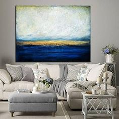 Large Abstract Oil Painting Blue Painting Sunset Painting Abstract Painting On Canvas Art Painting Original Original Oil Painting Abstract Large Abstract Wall Art, Blue Abstract Painting, Large Painting, Acrylic Painting Canvas, Large Wall Art, Canvas Art, Painting Art, Acrylic Art, Abstract Canvas