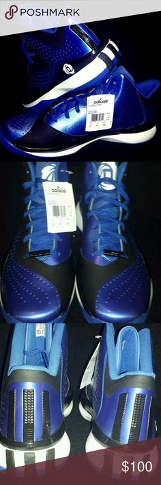 Adidas D Rose 773 III Sz 12.5 Blue Sneakers Brand NEW with Tags unworn  shoes in d67b4813d