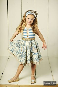 5a93eac7e85 Mustard Pie Amber Fields We love this dress for the older girls. Adorables  Children Boutique