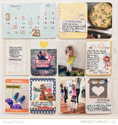 ♥ how she added the number stickers to the calendar card-- GREAT idea!! :) AND I absolutely ADORE the card on the bottom right... SOOO ADORABLE!!! ♥ ♥ ♥ | by Maggie Holmes for Studio Calico