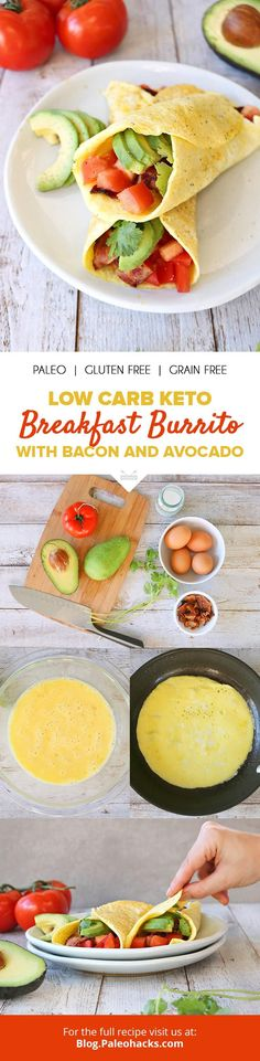 Business Cookware Ought To Be Sturdy And Sensible Bacon And Avocado Get Rolled Up In An Eggy Patty For A Protein-Rich Breakfast Burrito Get The Full Recipe Here: Http:Paleo. Protein Rich Breakfast, Paleo Breakfast, Breakfast Recipes, Ketogenic Breakfast, Sausage Breakfast, Recipes Dinner, Brunch Recipes, Breakfast Ideas, Cookbook Recipes