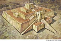 Ziggurat - A temple tower of ancient Mesopotamia, having the form of a terraced pyramid of successively receding stories.