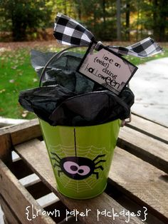 Halloween gift idea - what an easy an clever treat she made for the inside too!
