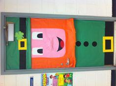 Leprechaun for a classroom door