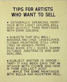 John Baldessari - Tips for Artists