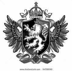Find Heraldic Lion Wing Crest stock images in HD and millions of other royalty-free stock photos, illustrations and vectors in the Shutterstock collection. Thousands of new, high-quality pictures added every day. Badass Tattoos, New Tattoos, Cool Tattoos, Tatoos, Seal Tattoo, Lion Tattoo, Tattoo Sleeve Designs, Sleeve Tattoos, Monogram