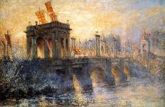 Princesse pont, huile sur toile de Frederick Mccubbin (1855-1917, Australia)