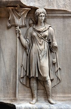 A representation of Mauritania, Roman relief (marble), 2nd century AD, (Museo Archeologico Nazionale, Naples).