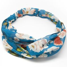 #Summertime #hair #accessories are here! Great for the beach, weekend errands or adding some flair to your summer wardrobe. The elastic, #floral #headband is made of a light rayon/cotton mix that is easy to wear with a twist in the front. #beauty #headbands