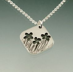 Sterling Silver Flower in the Garden Necklace by JenLawlerDesigns, $60.00