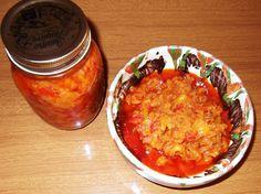 Zacuscă de morcovi Chana Masala, Salsa, Curry, Vegan, Ethnic Recipes, Food, Canning, Curries, Essen