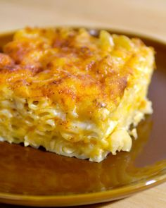 """Layered Mac and Cheese""   When musician John Legend visited Martha Stewart, he shared his recipe for this favorite Southern comfort food, with generous helpings of both Monterey Jack and cheddar cheeses; evaporated milk creates a creamy texture under the golden-brown surface. - Click image to find more popular food & drink Pinterest pins"