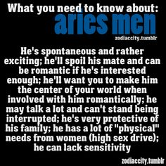 Zodiac City What you need to know about Aries men
