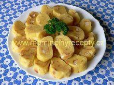 Bramborové svatební knedlíky Slovak Recipes, Czech Recipes, Ethnic Recipes, Yams, What To Cook, Dumplings, Gnocchi, Potato Salad, Side Dishes