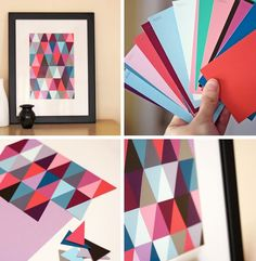 Ideas Diy Manualidades Cuadros For 2019 Arte Bar, Cadre Diy, Diy Paper, Paper Crafts, Paint Chip Art, Diy Wand, Creation Deco, Ideias Diy, Diy Wall Art