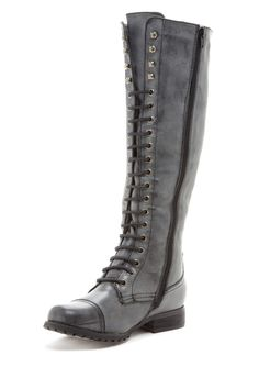ORDERED!!!  Bucco Lace-Up Knee High Boot  Merry Christmas to Me!