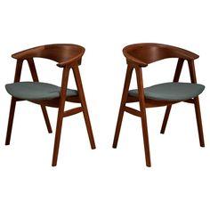 Danish Erik Kirkegaard Teak Dining Chairs | 1stdibs.com