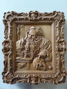 """Резное панно  -""""Святой Иероним"""" image 1"""