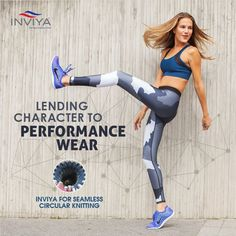 Looking for ultimate fit and comfort in your performance wear? Go for circular nit fabrics with Inviya! #isupportinviya #spandex