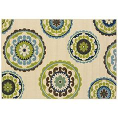 Oriental Weavers Caspian Medallion Indoor Outdoor Rug - 3'7'' x 5'6''