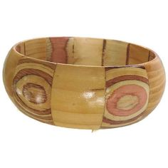Laminated Wood Bangle Bracelet Vintage Fun ($12) ❤ liked on Polyvore featuring jewelry, bracelets, vintage jewelry, colorful jewelry, tri color bangles, bangle jewelry and bracelets bangle