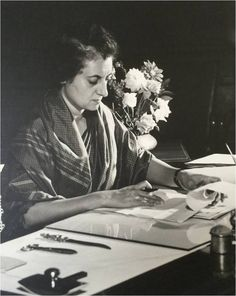 Indira Gandhi works in her office She was the second longest-serving Prime Minister of India, after Jawaharlal Nehru. Rare Pictures, Historical Pictures, Rare Photos, Vintage Photographs, History Of India, Asian History, Indian Freedom Fighters, Rajiv Gandhi, The Iron Lady