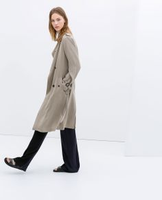 LONG FLOWING TRENCH COAT from Zara