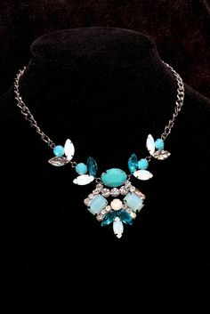 Incredible Teal Blue Statement Necklace...Amazing by fauxjunkies, $9.99