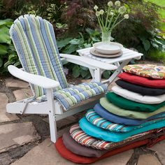 Awesome Adirondack Chair Cushions Surprising In Home Decoration Fpvfcld