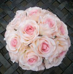 Most AKCIÓS ! Tabitha rózsa-menyasszonyi csokor, Esküvő, Esküvői csokor, Meska