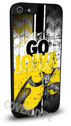 Iowa Hawkeyes Cell Phone Hard Case for iPhone 6, iPhone 6 Plus, iPhone 5/5s, iPhone 4/4s or iPhone 5c