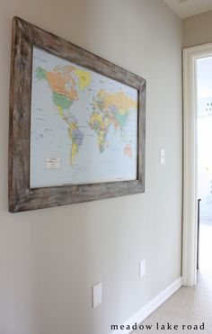 DIY framed map