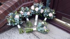 Flowers for a scottish and chinese fusion wedding. Sweet avalanche lisianthus thistle eucalyptus veronica and mint