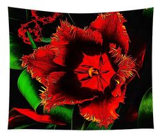 """Tapestry for your home decor, features art """"Bright Bloom"""" by #arankaarts #fineartamerica #pixels #floralart #flowerdesign Abstract Drawings, Fantastic Art, Wall Spaces, Tag Art, Basic Colors, Color Show, Flower Designs, Fiber Art, Colorful Backgrounds"""