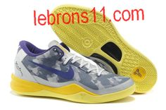 Star's favorite Year Of The Snake Nike Zoom Kobe VIII Grey Volt-Pure Platinum 555035 058 Basketball Shoes Store Nike Kobe Shoes, Nike Kd Vi, Basketball Shoes For Men, Nike Zoom Kobe, Kd Shoes, New Jordans Shoes, Sports Shoes, Men's Basketball, Cheap Jordans