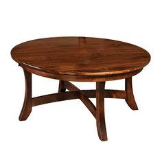 Amish Caldera Round Coffee Table | Amish Furniture | Shipshewana Furniture Co.