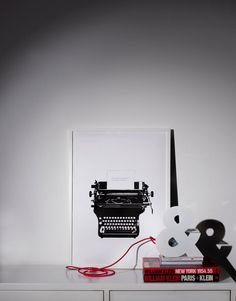 Typed love art print and ampersand lamp from soo-uk.com #onemustdash #soouk