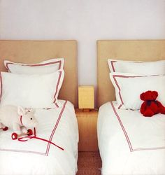 Chic Kids' Rooms. Twin beds in the home of Ione Skye