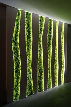 Vertical Garden Wall, Vertical Gardens, Garden Wall Art, Vertical Farming, Moss Wall Art, Moss Art, Salon Interior Design, Walled Garden, Interior Garden