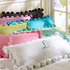 PB pom pom pillow cover