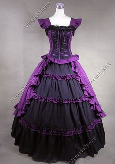victorian dresses | Details about Victorian Gothic Lolita Dress Ball Gown Prom Reenactment ...