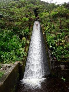 water slide through the rainforest in costa rica #water #slide #waterslide #costa #rica #costarica #rain #forest #rainforest